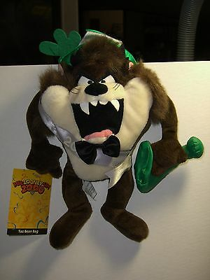 Warner Brothers 1999 Taz Devil 2000 bean bag figure-New-w/tags-MIL-LOONEY-UM