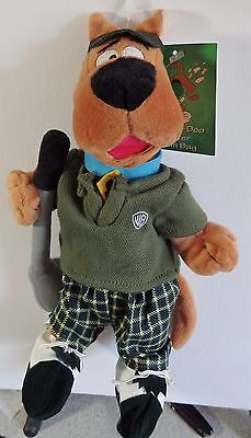 Warner Brothers 2000 Scooby-Doo Golfer bean bag plush figure-New-w/tags