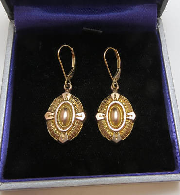 Antique Victorian 9K and 18K Gold Earrings