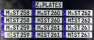 German License Plate - Munich Germany - BRAND NEW with matching Seal for BMW