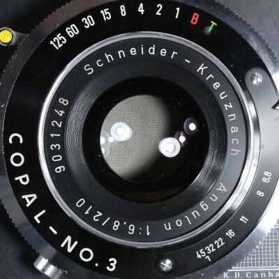 Schneider-Kreuznach Angulon 210mm f/6.8 Excellent Glass SN 9 031 248