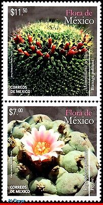 2950A Mexico 2015 Flora Of Mexico, Cactus, Cacti, Flowers And Plants, Mnh