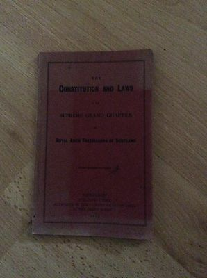 1915 Constitution And Laws Supreme Grand Chapter Masonic Booklet