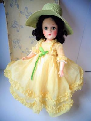 "1935 Madame Alexander Scarlett O'Hara 14"" Composition Doll Superb! Yellow Dress"