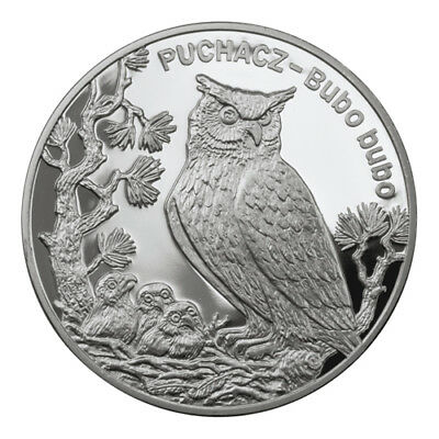2005 POLAND - SILVER PROOF 20zl - EAGLE OWL