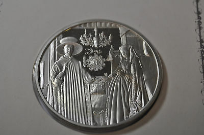100 Greatest Masterpieces 2.08oz Sterling Silver Proof - The Arnolfini Wedding
