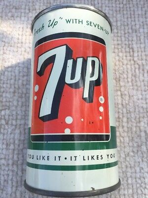 7 Up Flattop Soda Can