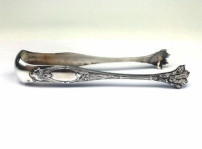 "Antique French 800 Silver Lion Paw Claws 5-1/4"" Tongs"