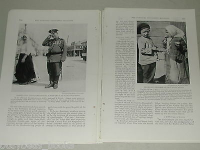 1918 magazine article, The Volga, Russia, WWI, people, history