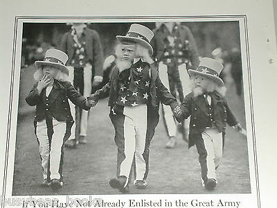1918 War Savings Stamps advertisement, Kids as Uncle Sam, 4th July Parade
