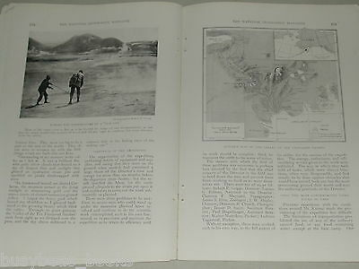 1918 magazine article about Mt. Katmai ALASKA, Valley of 10,000 Smokes, Volcano