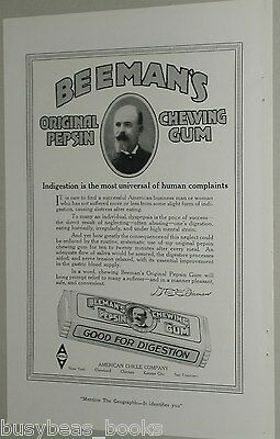 1919 Beeman's Chewing Gum advertisement, American Chicle Company