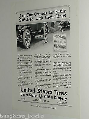 1920 United States Tires advertisement, US Rubber Co. tire blowout