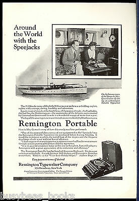 1923 Remington Typewriter advertisement, REMINGTON portable, Speejacks ship