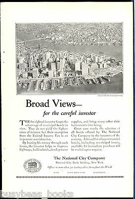 1924 National City Co. advertisement, New York City, Manhattan