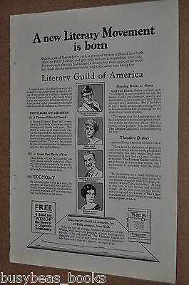1927 Literary Guild of America advertisement, BOOK CLUB, first year