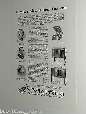 1924 VICTROLA advertisement, Victor Talking Machine, Victrola 50, 210, 240