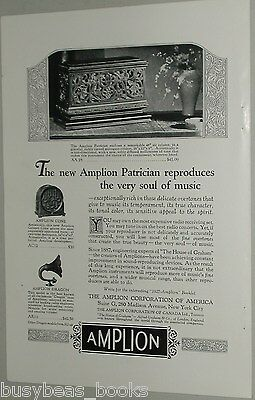 1926 Amplion Speakers advertisement, Patrician, cone, dragon speakers