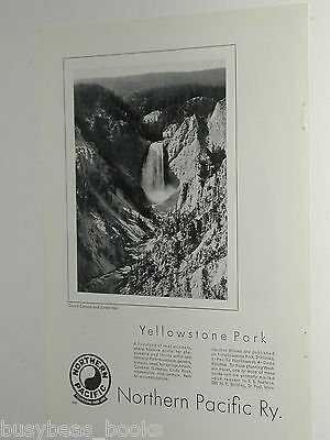 1930 Northern Pacific Railway ad, Yellowstone Park