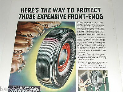 1939 General Tire ad, Dual-8 Squeegee Tires, color