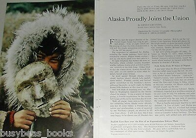 1959 magazine article, Alaska Joins the USA, history, people etc