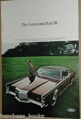 1969 LINCOLN Continental advertisement, Lincoln CONTINENTAL Mark III