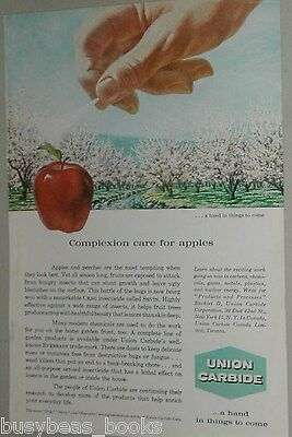 1959 UNION CARBIDE advertisement, promoting Chemicals in food production