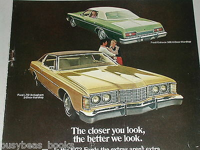 1973 Ford advertisement, Ford LTD and GALAXIE 500, detail photos too