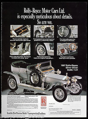 1991 Franklin Mint advert for 1907 Rolls-Royce Silver Ghost model, Canadian ad