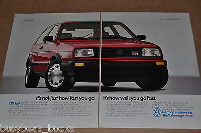 1988 Volkswagen GTI 2-page advertisement, VW GTI 16V, huge photo