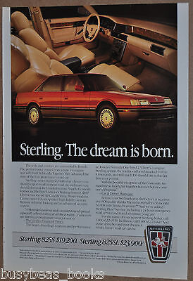 1987 STERLING advertisement, Joint Honda-Austin Rover automobile