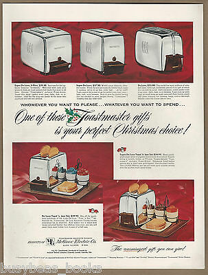 1954 TOASTMASTER TOASTER advertisement, chrome toasters for Christmas