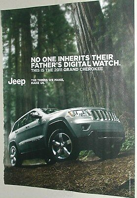 2011 Jeep ad, Jeep Cherokee in the woods