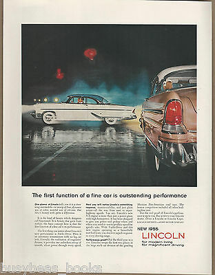 1955 LINCOLN advertisement, hardtop coupe, Ford Lincoln