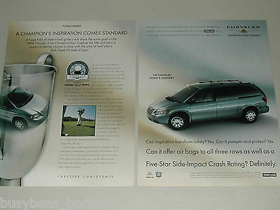 2004 Chrysler 2-page advertisement, Chrysler TOWN & COUNTRY, Golf Championship
