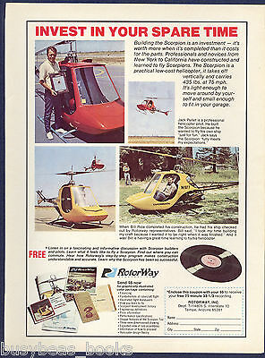 1974 ROTOWAY SCORPION advertisement, Rotoway Scorpion Helicopter, kit copter