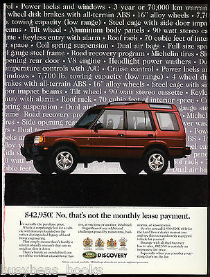 1997 LAND ROVER DISCOVERY advertisement, Canadian advert
