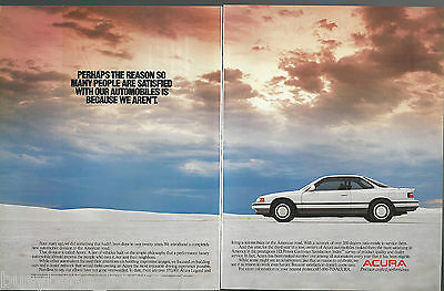 1990 ACURA LEGEND 2-page advertisement, Honda Acura coupe
