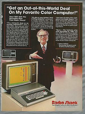 1982 RADIO SHACK advertisement for TRS-80 computer with ISSAC ASIMOV