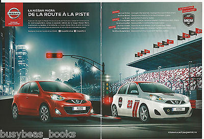 2016 NISSAN MICRA 2-page advertisement, Canadian, FRENCH text