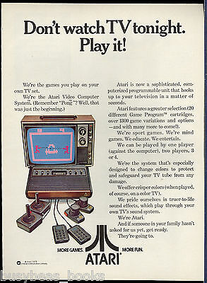 1978 ATARI Video Computer System advertisement for Atari TV video game console