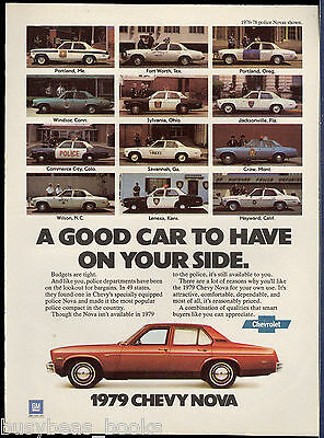1979 CHEVROLET NOVA advertisement, Chevy Nova POLICE CARS