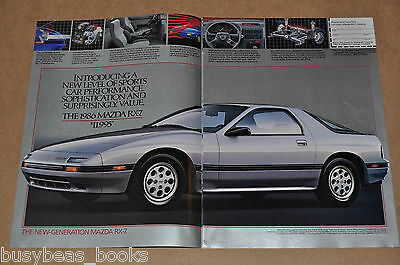 1986 MAZDA 12-page advertisement, Mazda cars, RX-7, 626 and 323