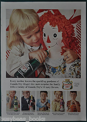 1956 CANADA DRY advertisement, Ginger Ale etc, Raggedy Anne