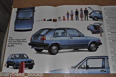 1985 VOLKSWAGEN GOLF 3-page advertisement, VW Golf, family car