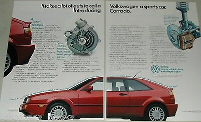 1989 VOLKSWAGEN CORRADO 2-page advertisement, VW Corrado