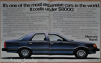 1984 MERCURY TOPAZ 2-page advertisement, Ford Lincoln Mercury