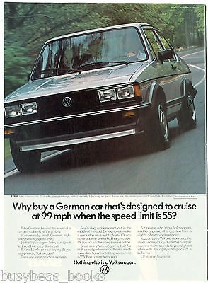 1983 VOLKSWAGEN JETTA advertisement, VW Jetta coupe, 99 MPH