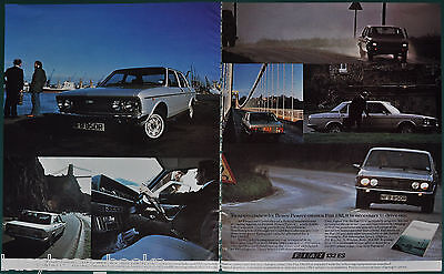 1977 FIAT 1800 ES 2-page advertisement, silver saloon, British advert