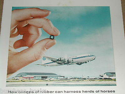 1958 Goodyear advertisement, Chemical Division, Pan Am DC-7 Clipper plane
